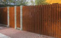 Деревянный забор Шахматка