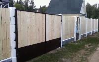 Забор из деревянного штакетника