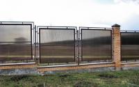 Секционный забор из поликарбоната