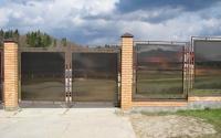 Распашные ворота из поликарбоната