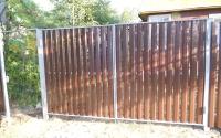 Распашные ворота из металлического штакетника