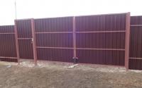 Фото распашных ворот в Долгопрудном.