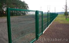 Секционный забор из 3D сетки