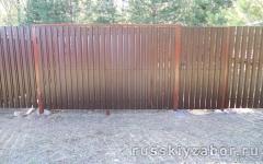 Фото распашных ворот в Мытищах.