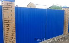 Фото распашных ворот в Наро-Фоминске.