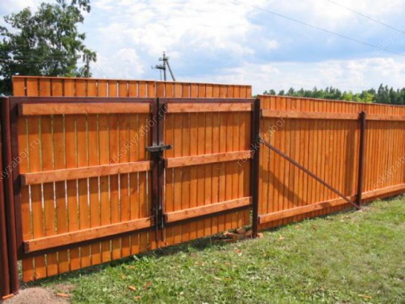 Ворота для дачи деревянные