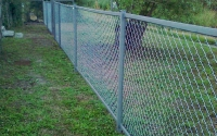 Секционный забор из сетки рабица