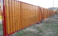 Фото автоматических откатных ворот в Клину