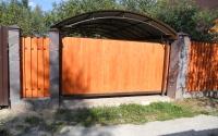 Фото автоматических откатных ворот в Сергиевом Посаде