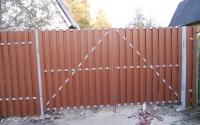 Фото распашных ворот в Зеленограде.