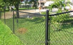 Натяжной забор из сетки рабица
