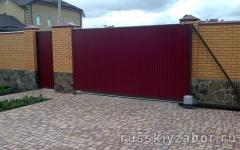 Фото автоматических откатных ворот в Пушкино