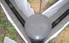 Установка смотрового колодца в дренажную систему