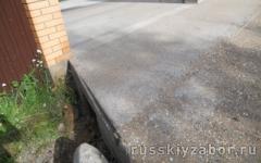 Площадка для машины на даче