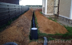 Строительство дренажной системы со смотровыми колодцами
